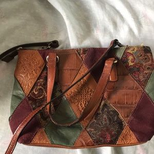 Fossil multicolor patched handbag